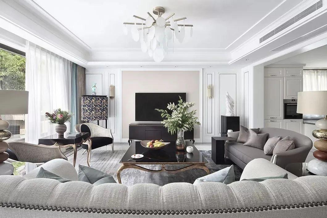 530㎡现代欧式,优雅华丽的别墅装修,营造惬意温雅的氛围