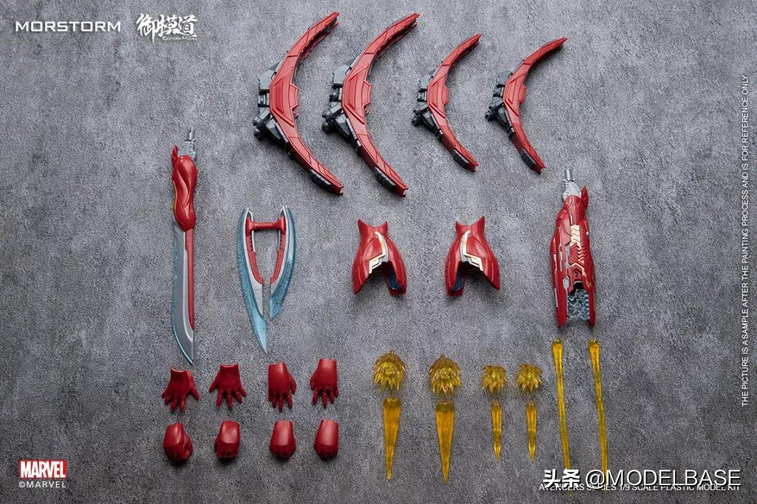 第四款拼装钢铁侠 御模道拼装钢铁侠MK50公布官图