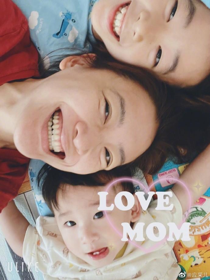 應采兒母子過母親節,小兒子眼睛有哥哥兩倍大,陳小春基因被打敗