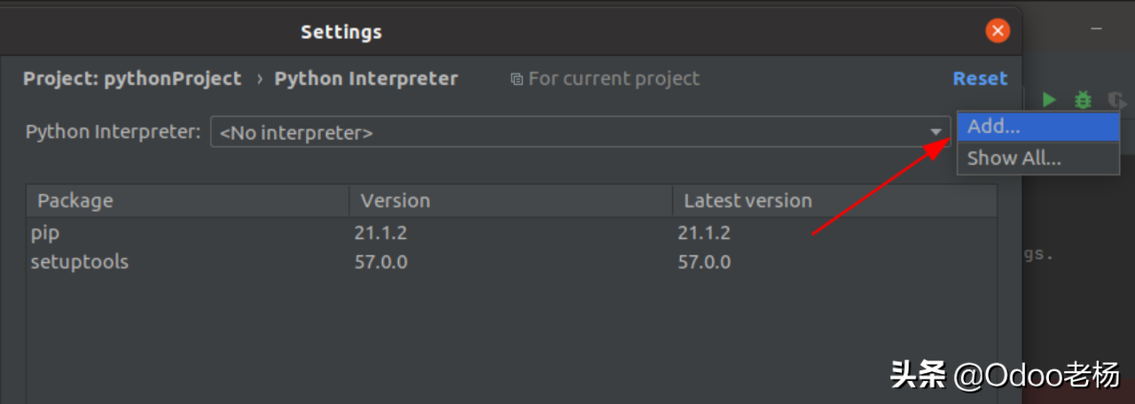 免费开源ERP定制开发:Odoo如何在PyCharm中设置独立的虚拟环境