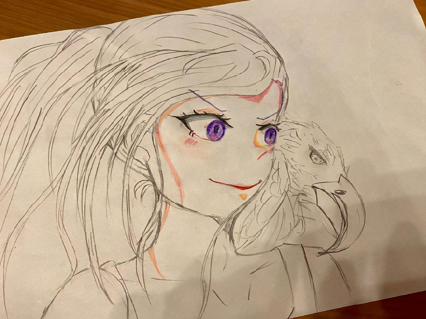 畫了一拳超人的漫畫家曬完女兒又曬兒子,兩個娃都挺有繪畫天賦