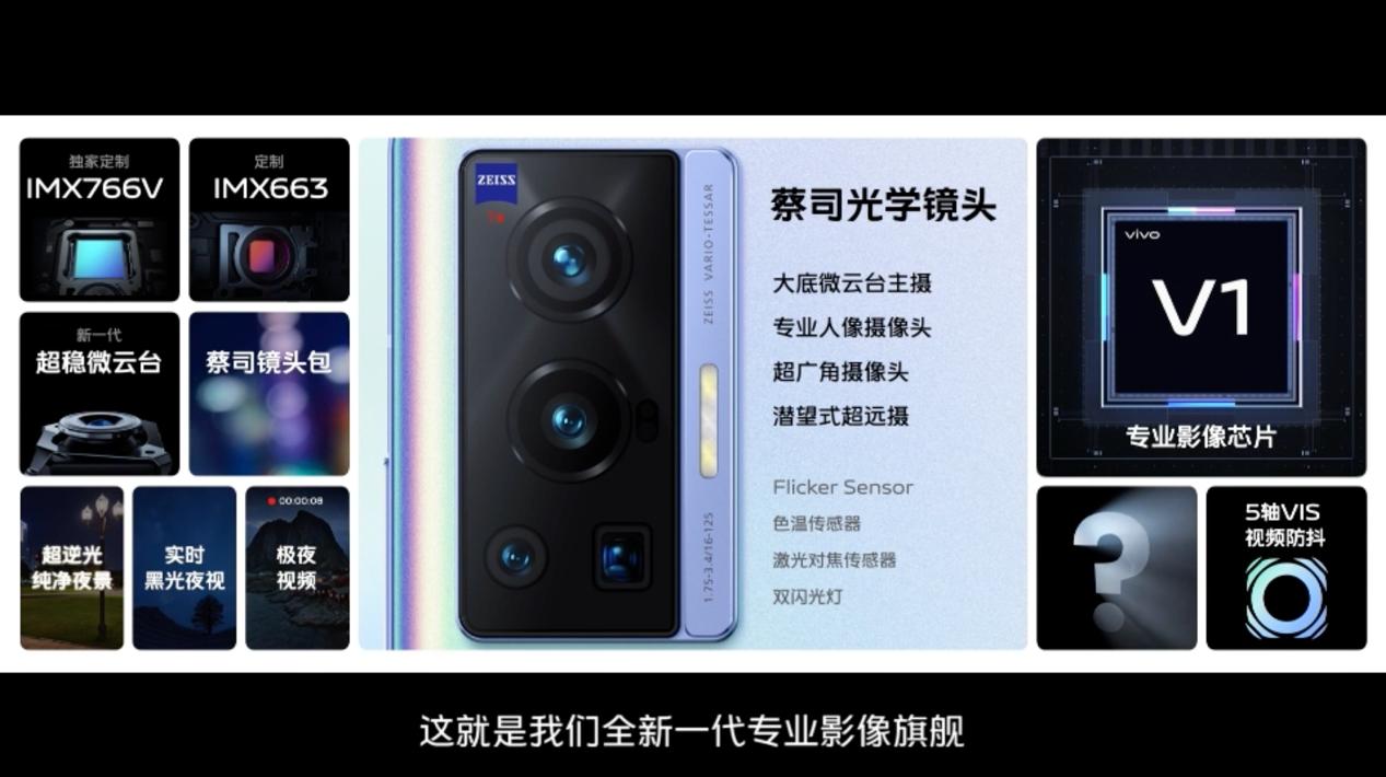 vivo X70系列手机:搭自研V1芯片与蔡司合作 3699元起售
