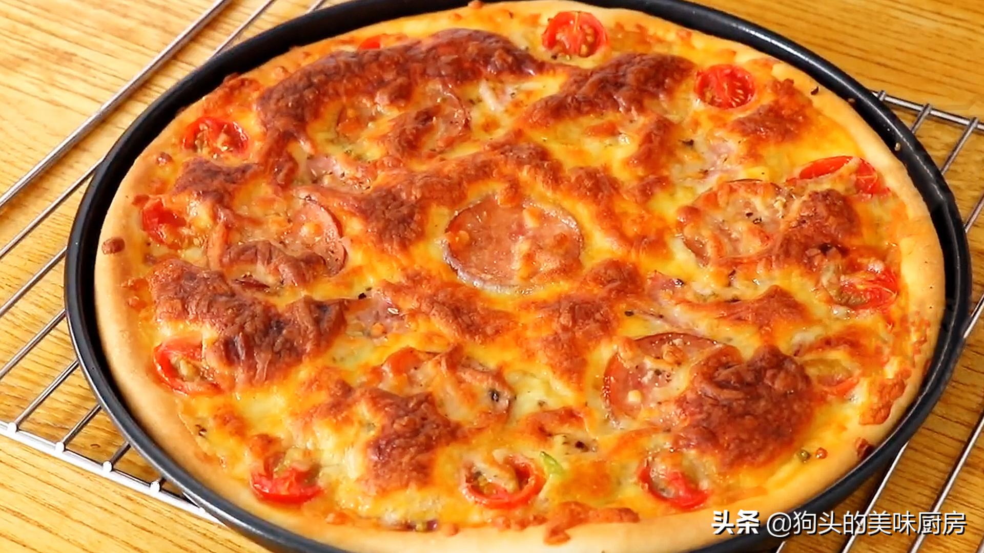 手把手教你在家做披萨,简单易学,绵软可口还拉丝,比买的还好吃 美食做法 第1张