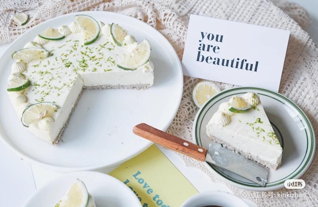 柠檬酸奶冻芝士蛋糕6寸量(低卡版)🎂