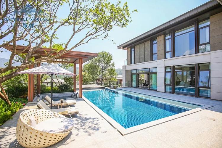 别墅亚克力透明无边游泳池-广州从都国际别墅案例