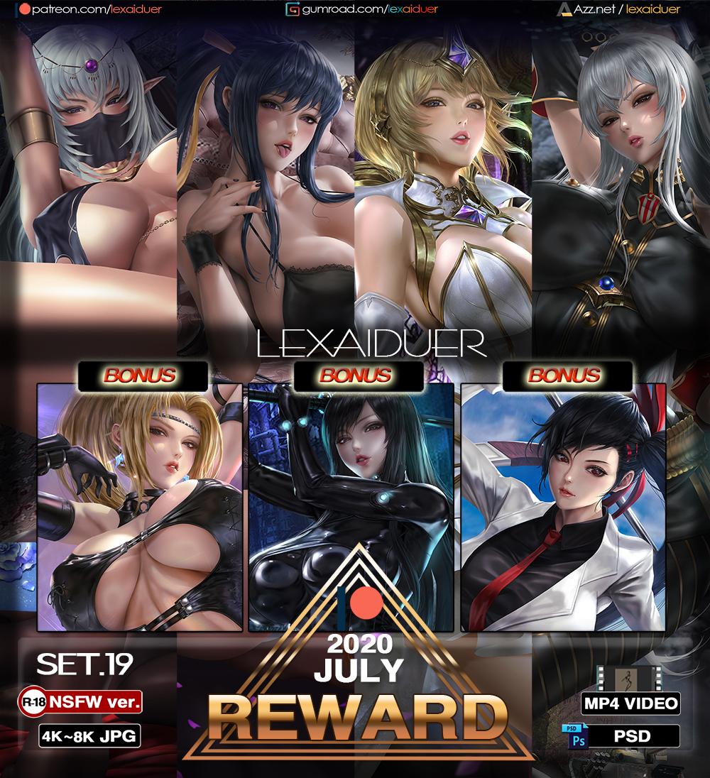 Lexaiduer画师2020.7-8月CG插画作品