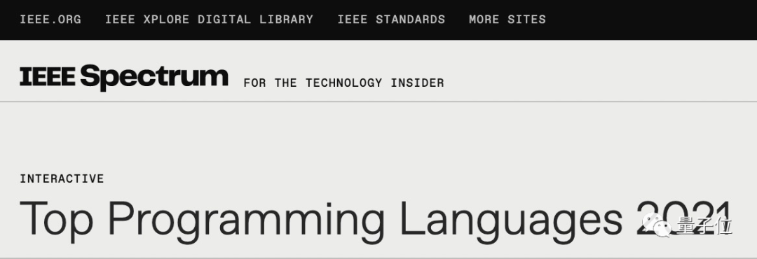 Python天下第一!增长速度工作需求全榜首|IEEE Spectrum年度排行