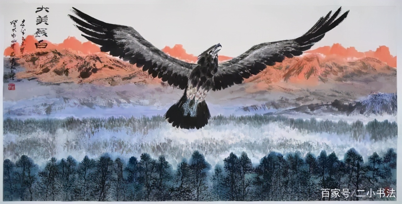 美协副主席画鹰卖了2100万,自称已远胜李苦禅、八大山人