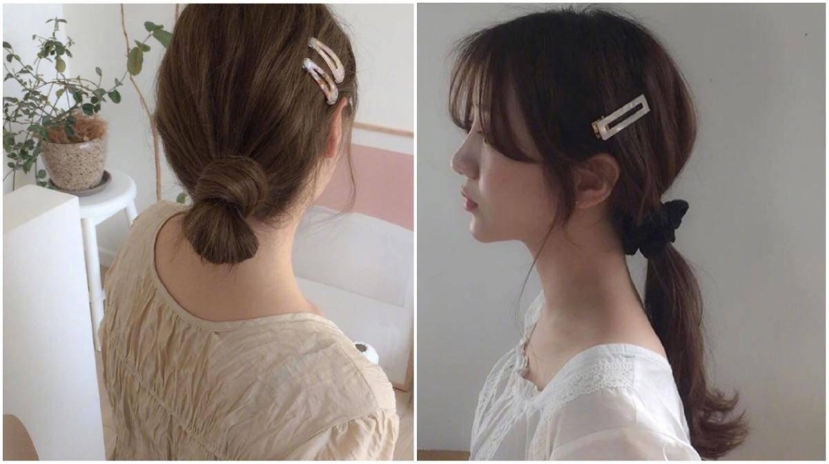 女性发型打理,韩系美发搭配时髦的发饰,流露女性温柔优雅的气质