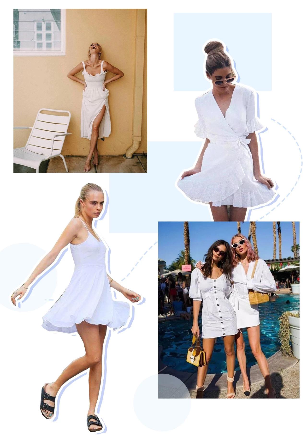 白色连衣裙怎么选,怎么搭?看这一篇就够了