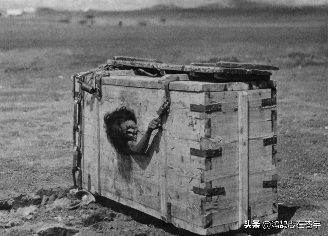 清末老照片,木箱中的女子气若游丝,图八官员宝贝儿子十分秀气