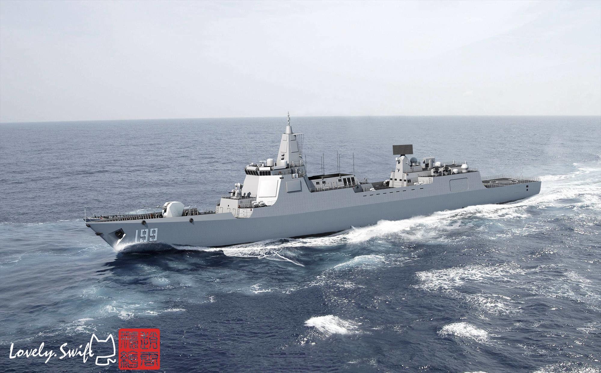 """中国新舰上马,目标超越美国的""""伯克""""驱逐舰"""