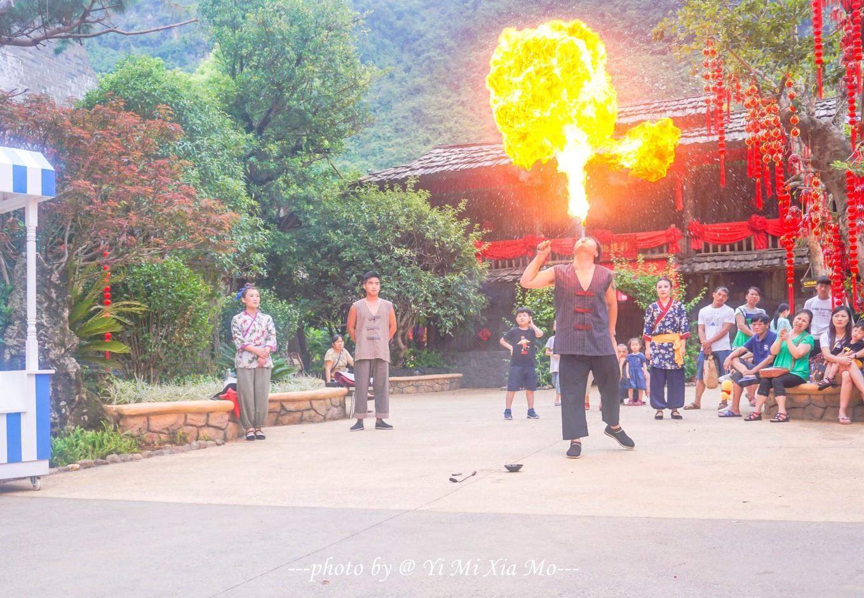 民间杂耍之一---喷火苗