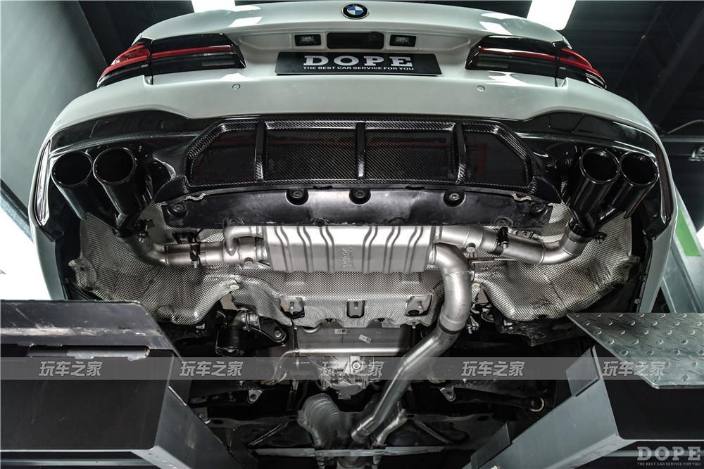 2021款宝马525Li 国六 升级四出中尾段智能阀门排气