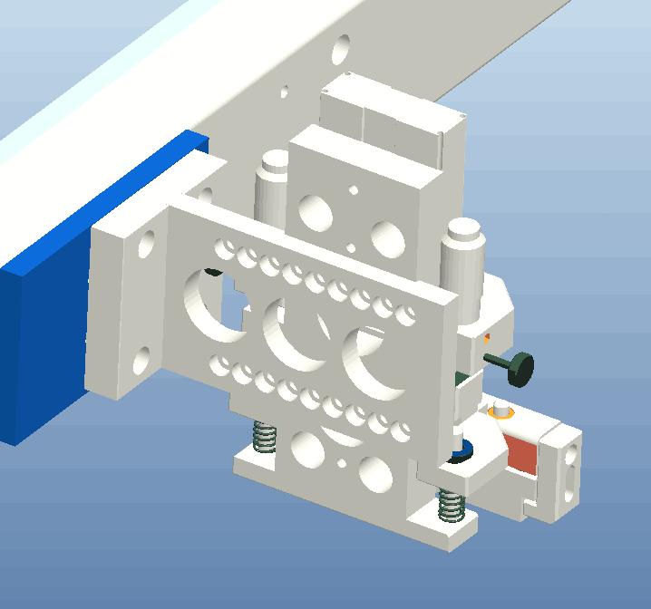 取料模组机械手多吸头结构3D模型图纸 CREO设计
