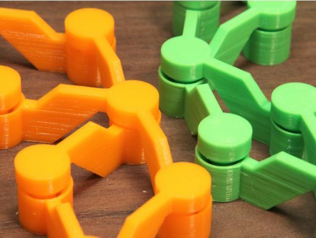 可变形连杆小玩具3D打印图纸 STL格式