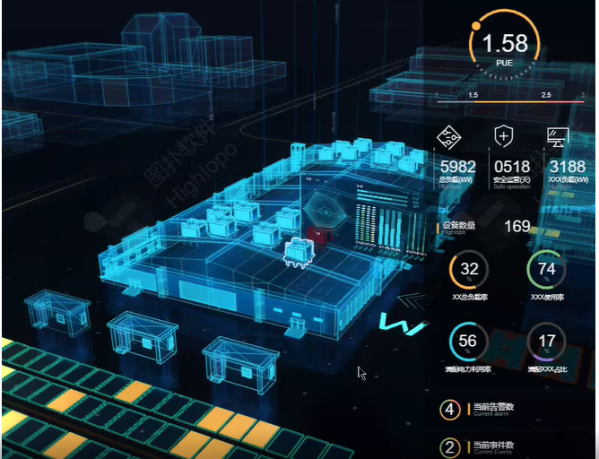 数据中心决策如何快人一步?一块大屏轻松实现3D数据可视化