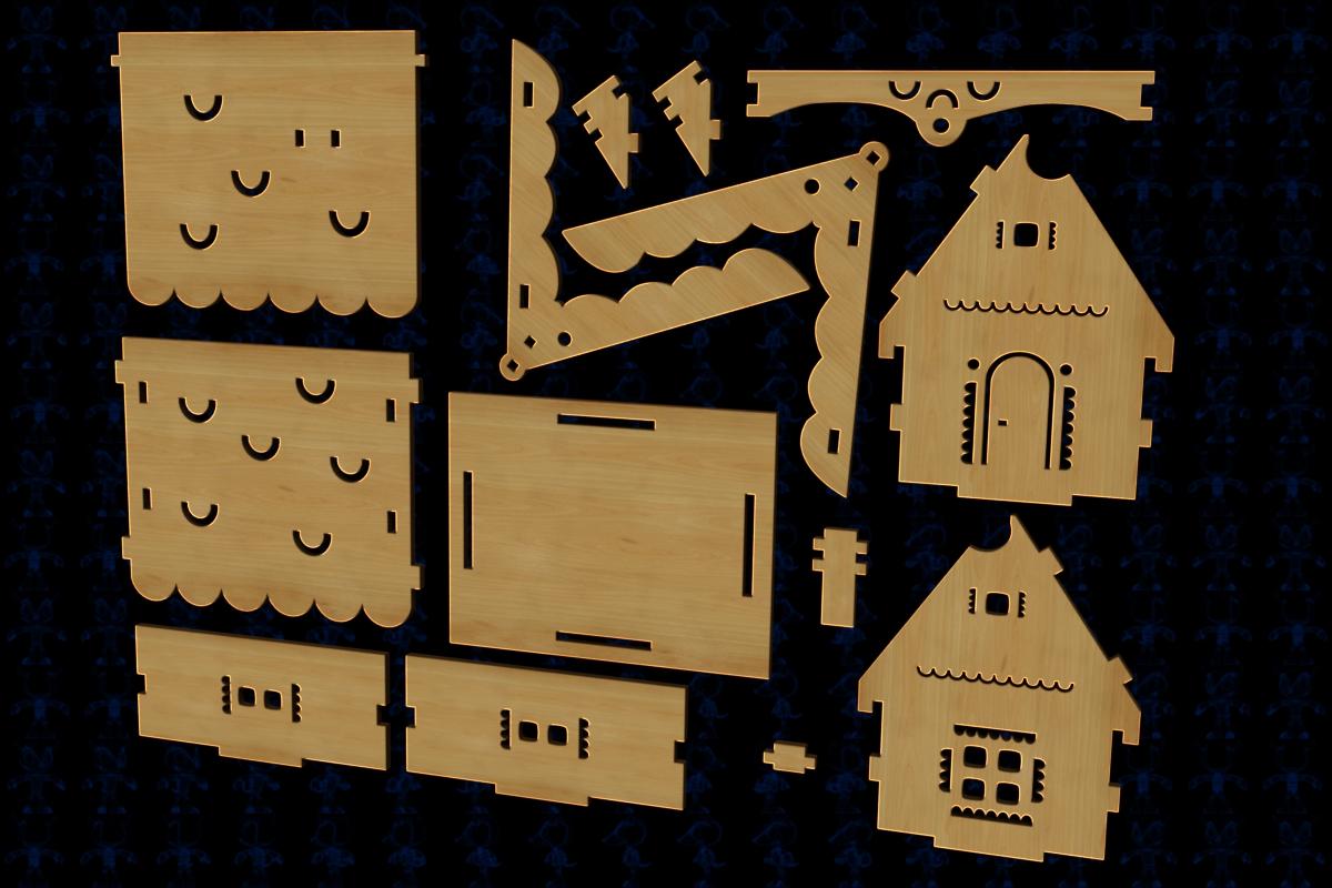 小木屋拼装模型3D图纸 Solidworks2018 附多种格式