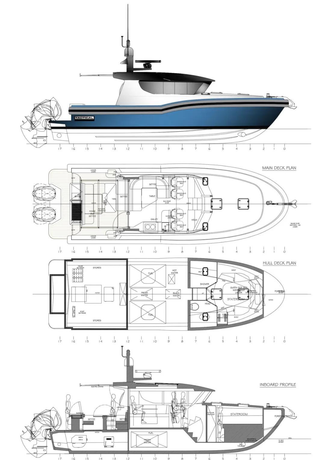 跑出40节高速的铝合金游艇,加拿大Tactical高定制游艇