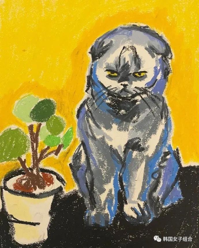 这位女团爱豆画的猫,集所有才华于一身