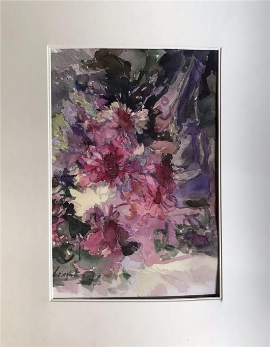 当代艺术家李采新华水彩画绘画作品赏析