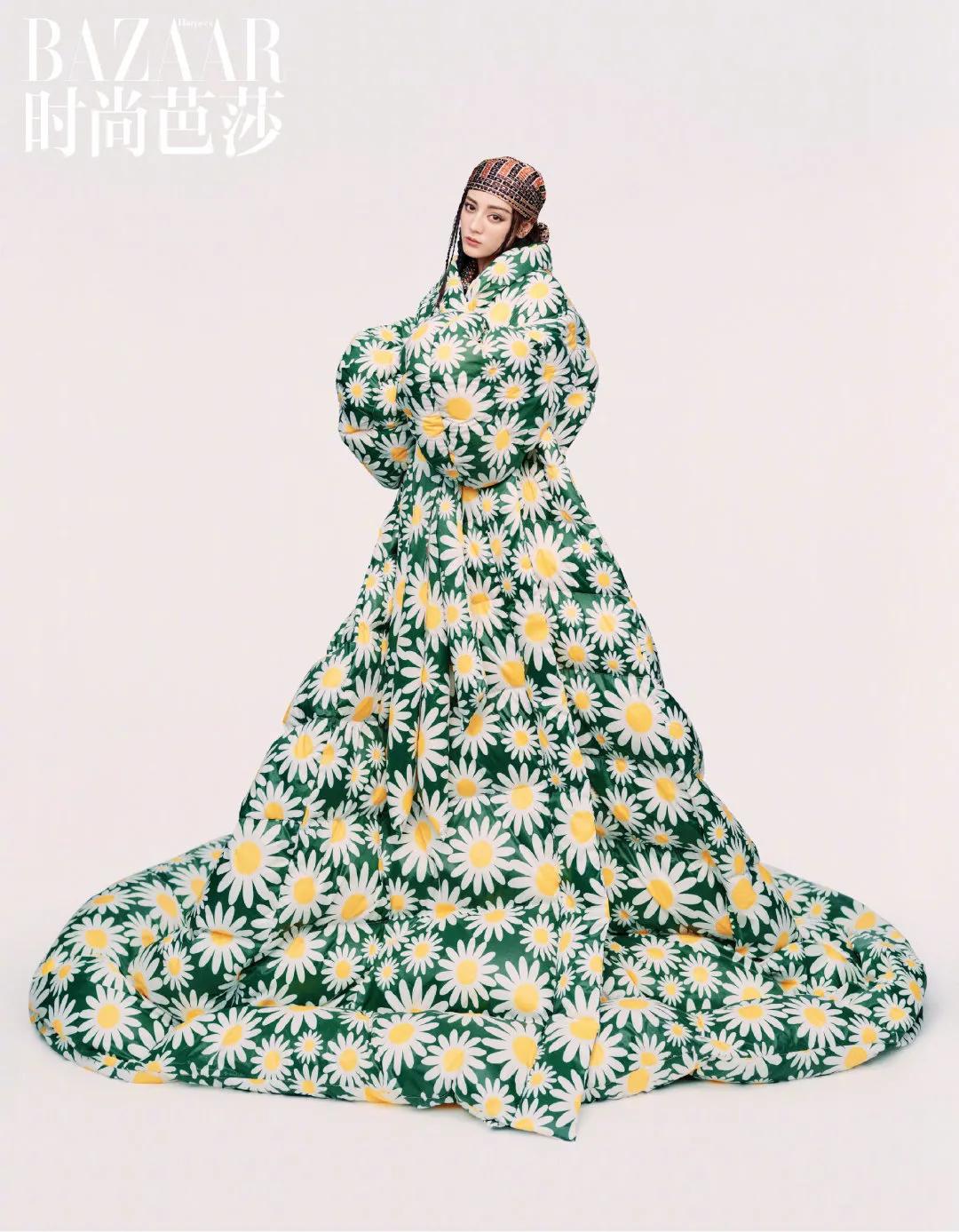 迪丽热巴:花朵大片!美人不止美貌!用时尚诠释单身、快乐、买!