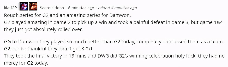 外网热议DWG碾压G2:世界赛最快比赛纪录,G2热爱创造纪录