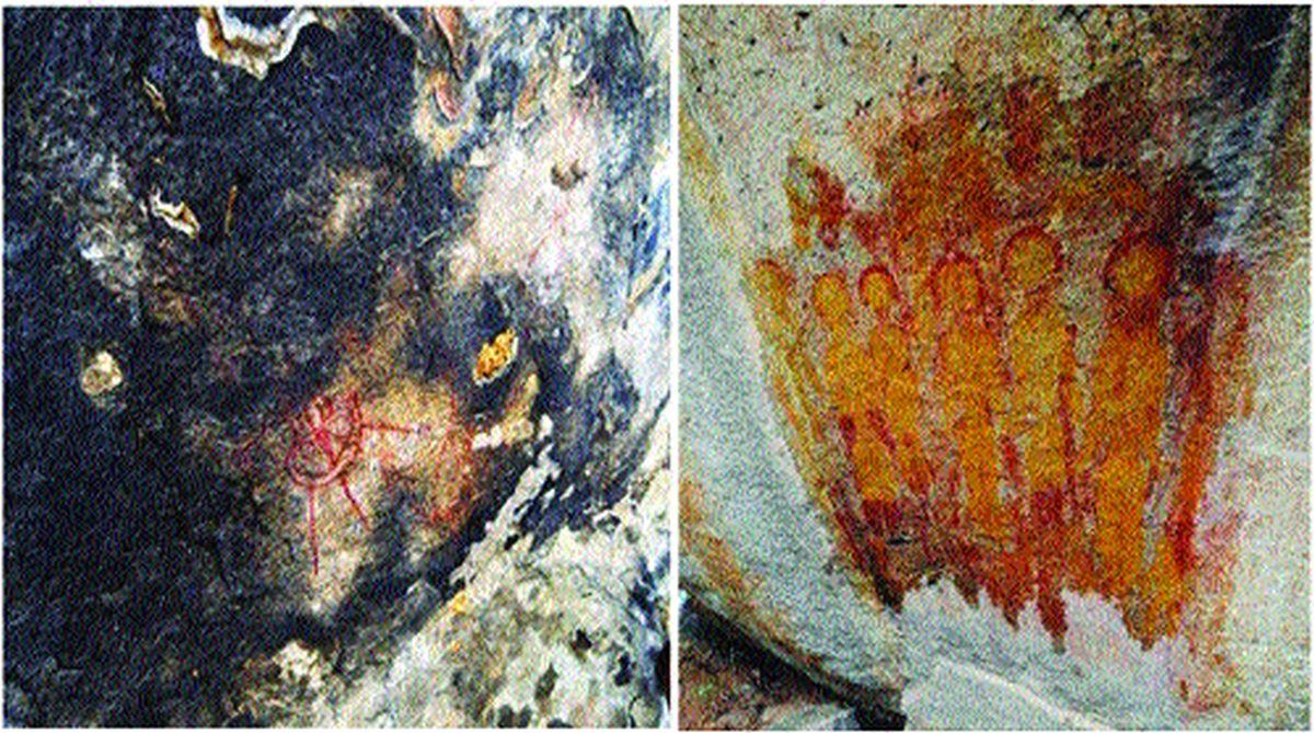 印度发现的万年前壁画中,惊现外星人和UFO!他们真来过地球?  印度 外星人 UFO 第4张