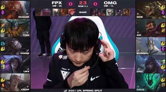 "LOL:""LPL唯一指定牛宝""助力FPX 2-0击败OMG"