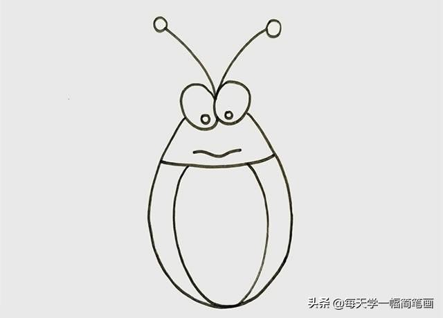 每天学一幅简笔画--蟑螂简笔画步骤画法