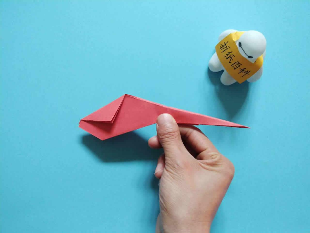 能飞得很远的折纸飞机,简单几步就做好,手工DIY折纸图解教程 家务妙招 第9张
