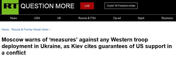 俄罗斯警告:乌克兰局势,美国若出兵,俄罗斯也将行动