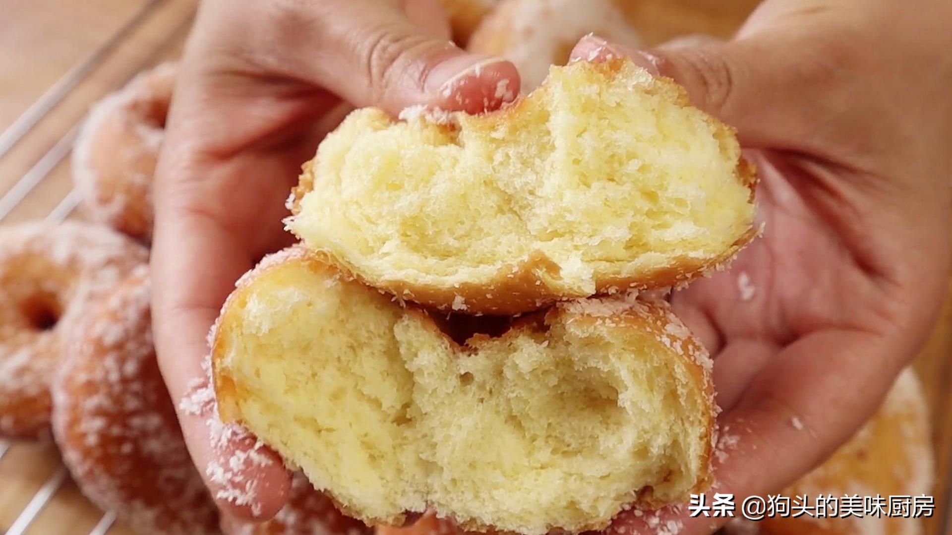 一碗面粉,3个鸡蛋,手指一戳一转,香甜松软,比买的面包还好吃 美食做法 第3张