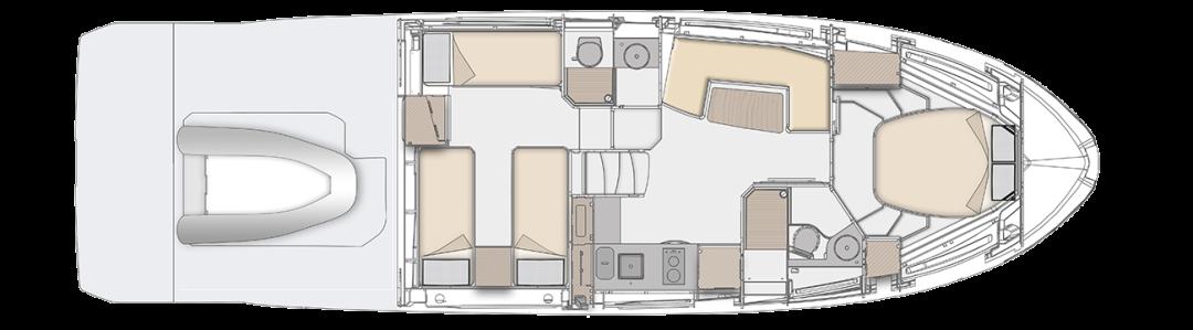14.6米长,2房2厅2卫布局,阿茲慕Atlantis运动艇