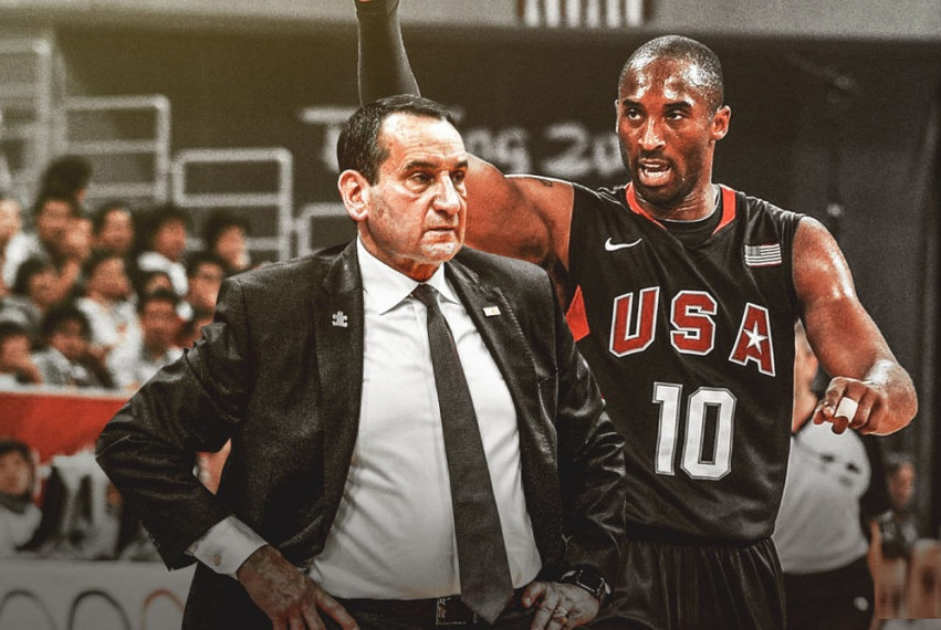 來自曼巴的倔強!夢幻隊再曝Kobe奧運故事:敲門老K教練,只為提前「預定」鬼切!-籃球圈