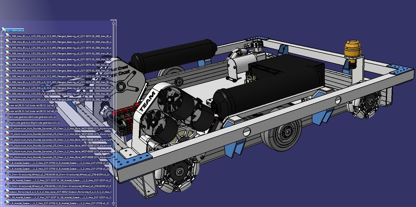 2019 Drive Base麦克纳姆轮机器人车3D图纸 STEP格式