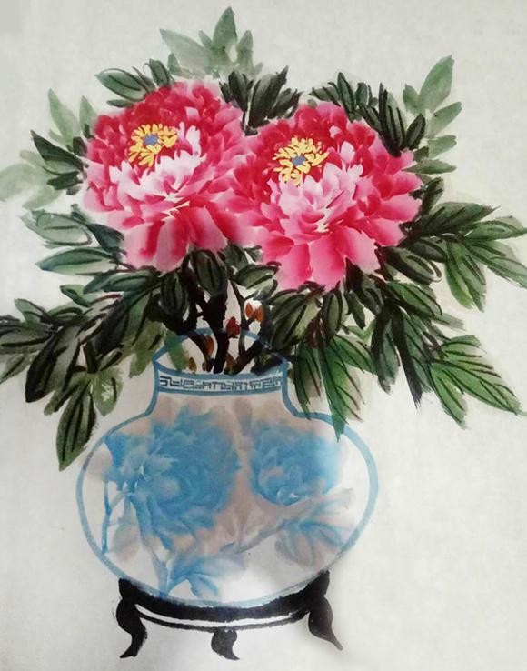 画家李锡玉——技法上求新求变,层次丰富,色彩鲜亮,自成画风