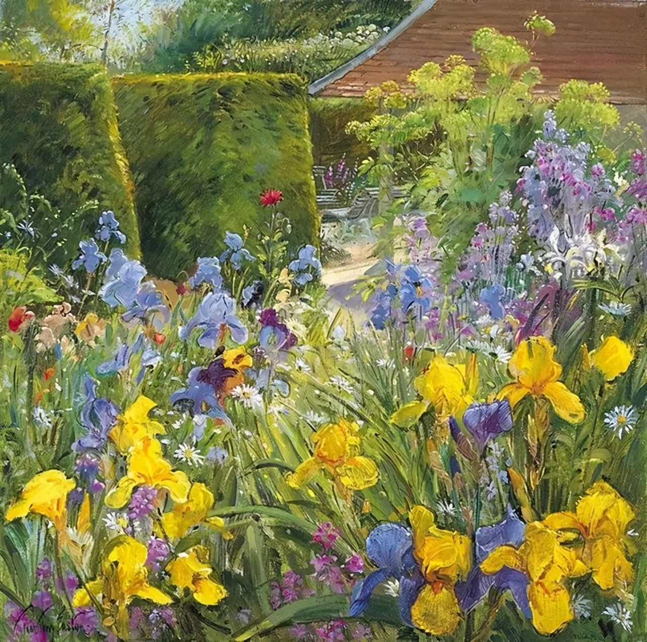 英国风景画家蒂莫西·伊斯顿花团似锦的世界