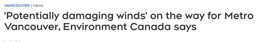 """加拿大遭暴风""""洗礼""""!时速100公里!停电波及2万人"""