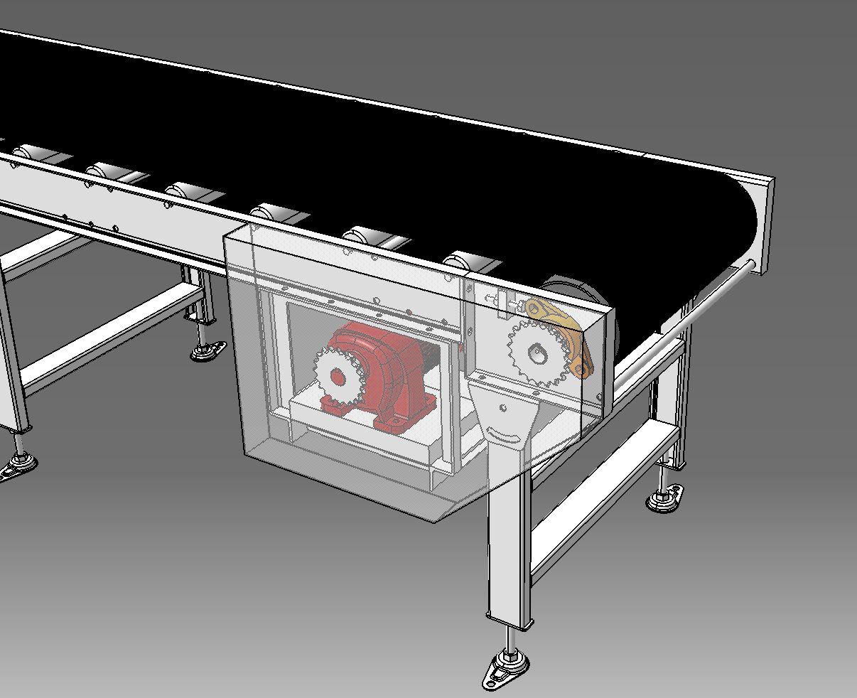 Standard Belt Conveyor标准带式输送机3D图纸 CATIA 附STP IGS