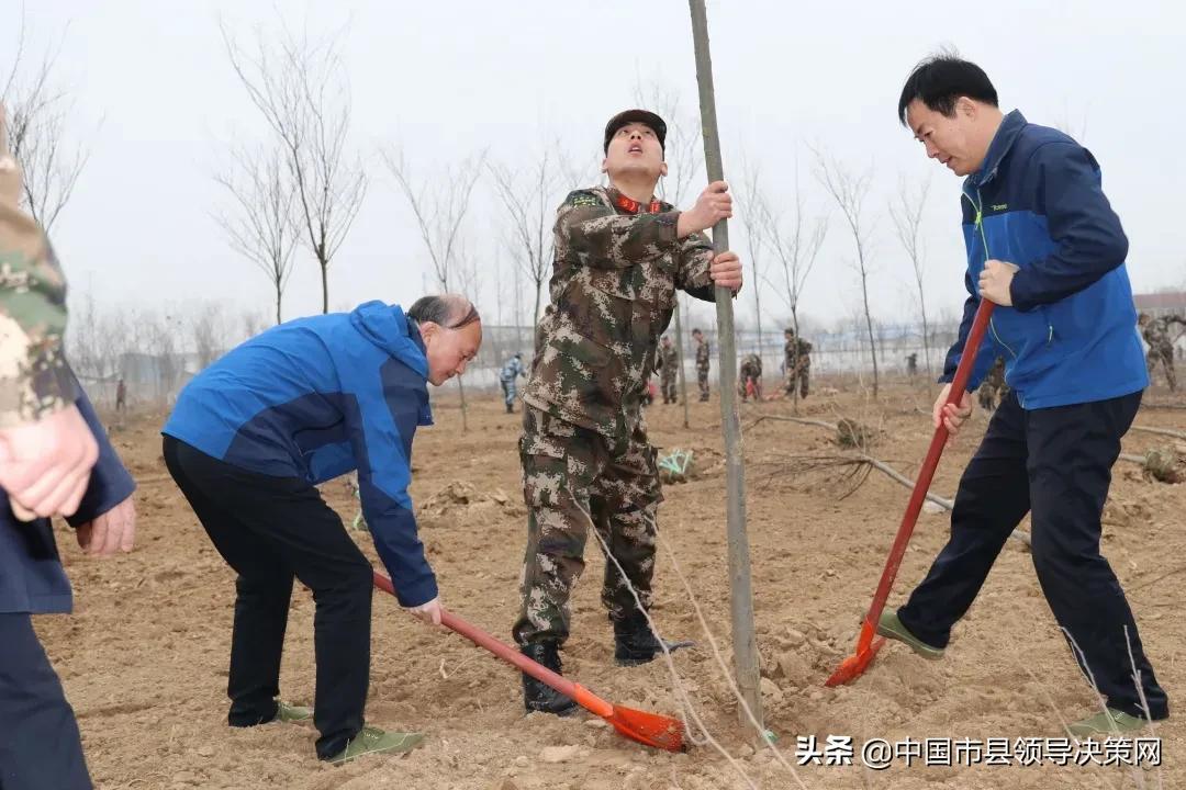 军民鱼水情 共建双拥林响水县退役军人事务局举行义务植树活动