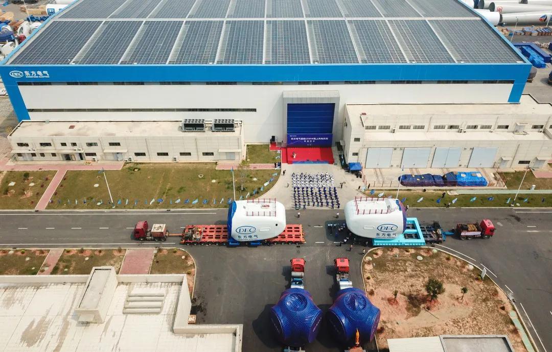 东方电气10MW海上风电机组批量交付