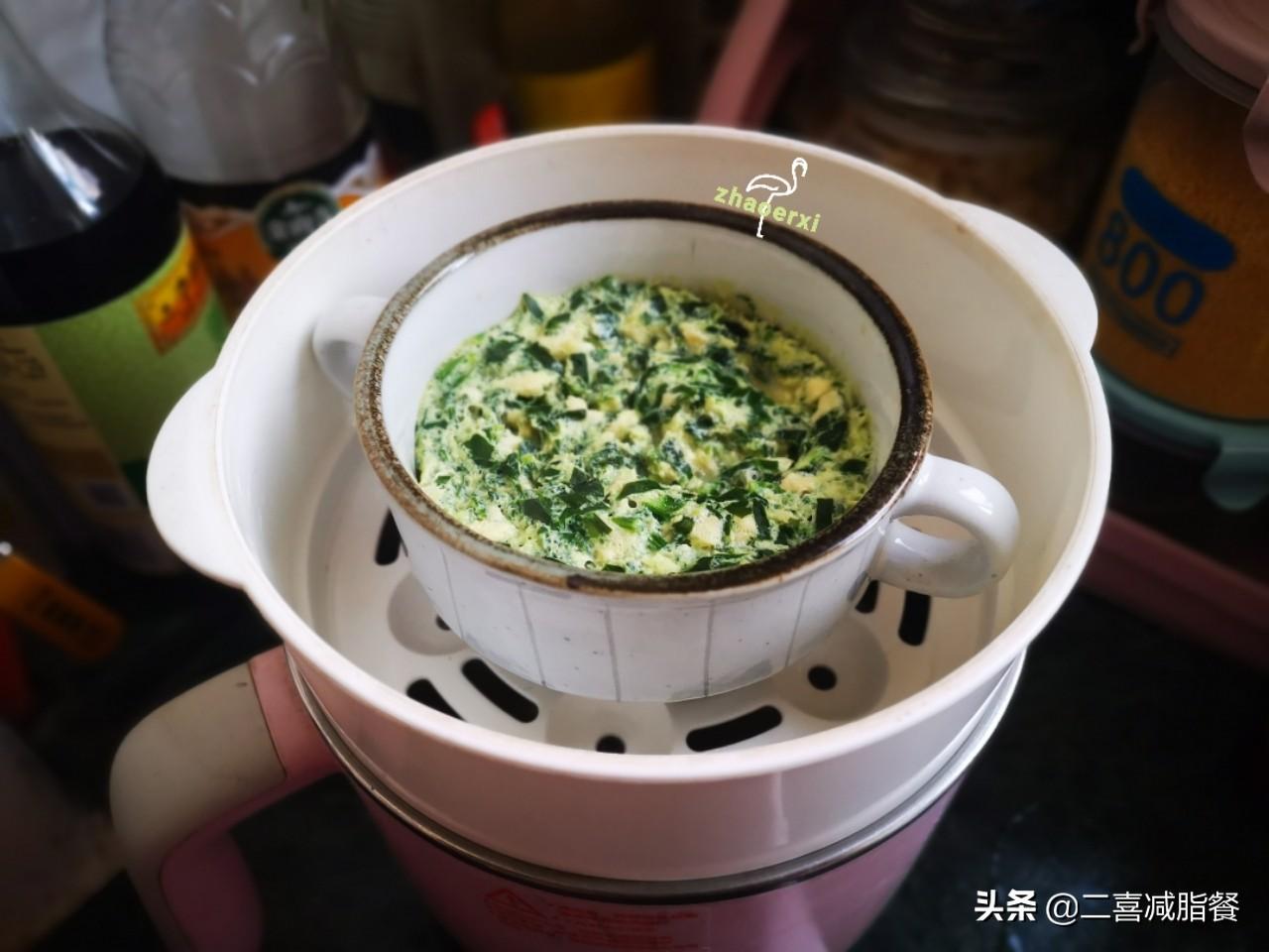 减脂早餐167:杂粮、水果、鸡蛋、肉、蔬菜都有了,360大卡 减肥菜谱做法 第4张
