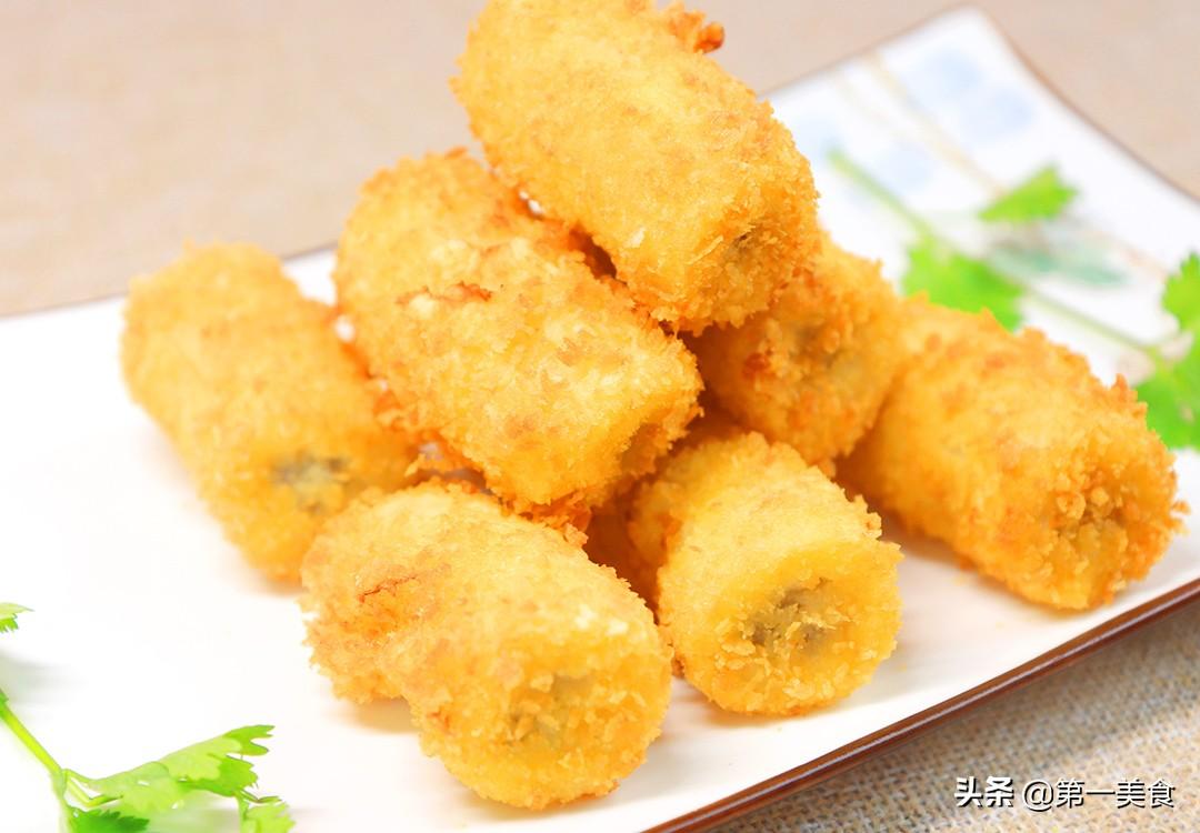 【黄金香蕉】做法步骤图 焦酥可口 香甜软糯