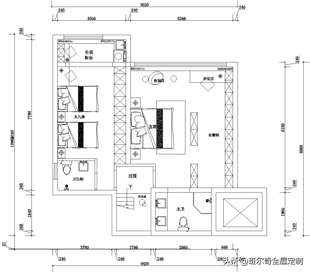 150㎡三胎之家这样设计,简直惊艳了