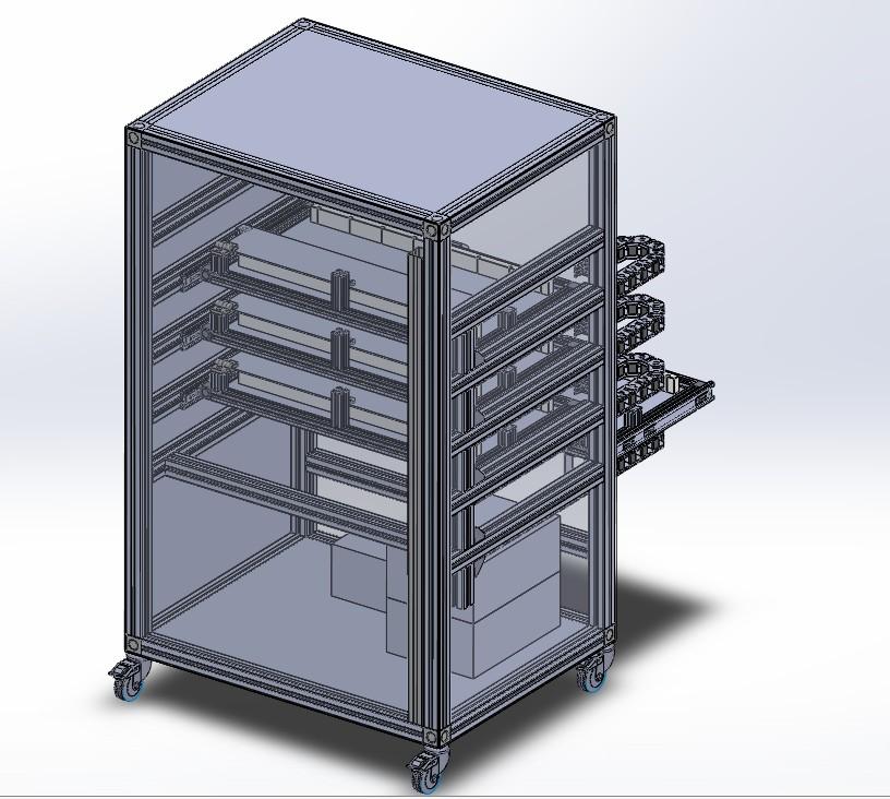 自动烧烤架模型3D模型图纸 Solidworks设计