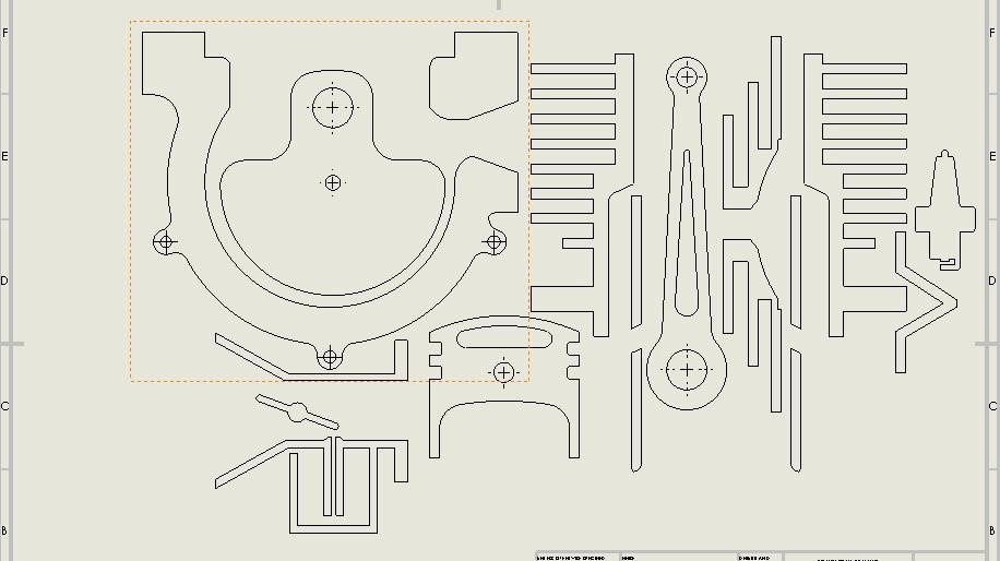 内燃机简易平面演示模型3D图纸 Solidworks设计