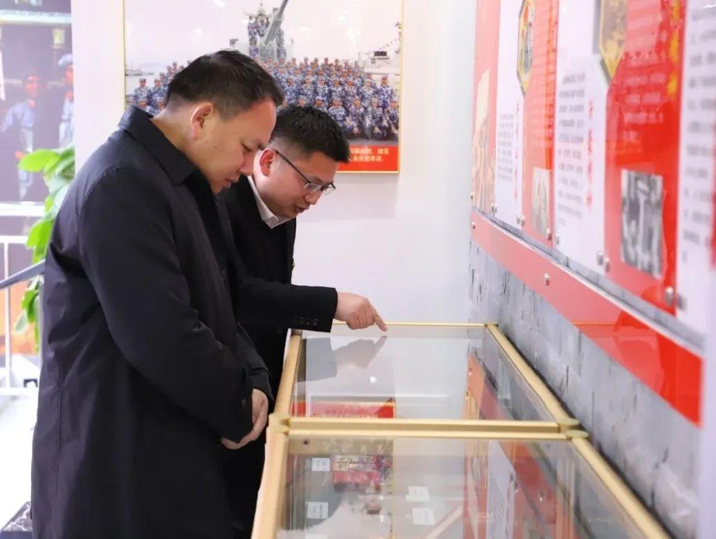 江北新区领导调研引导盘城街道退役军人服务站工作