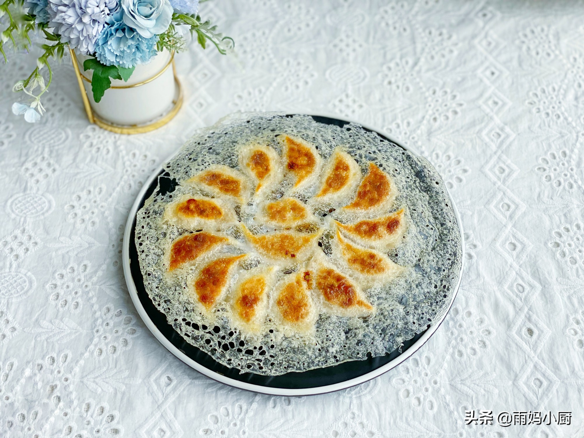 冰花煎饺用淀粉还是面粉,教你一招,做出来的冰花晶莹剔透又酥脆