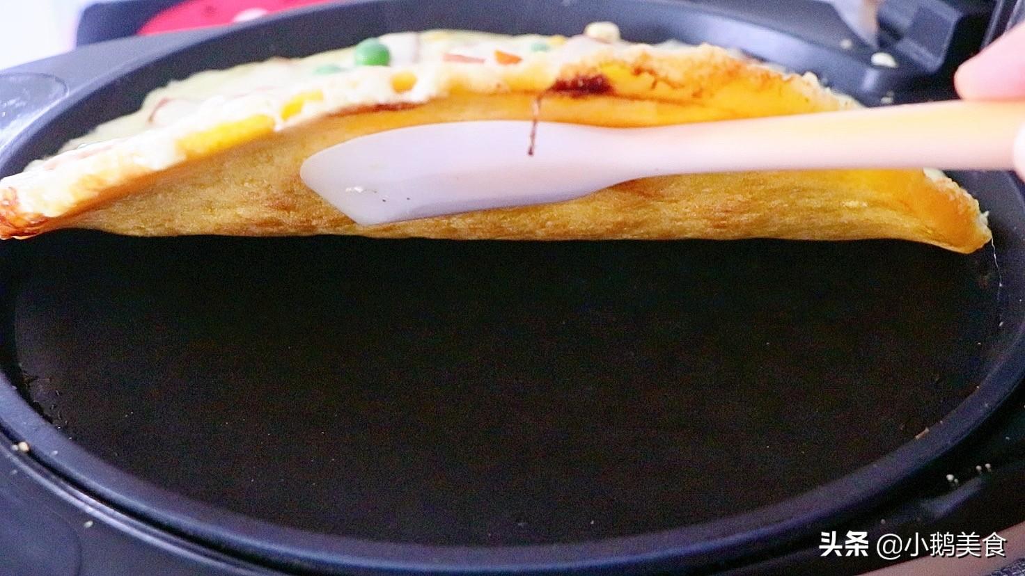 10分鐘懶人披薩,不和麵不發麵,純玉米麵製作,比必勝客的還好吃